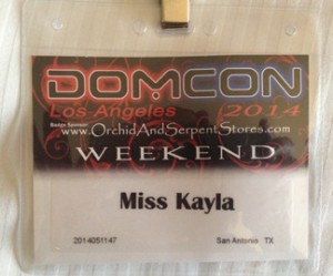 I now have a Domcon LA badge to go with My Atlanta one from this past fall.