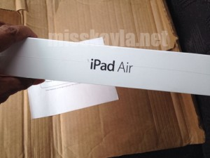 Slave A's belated birthday tribute to Me....an iPad Air