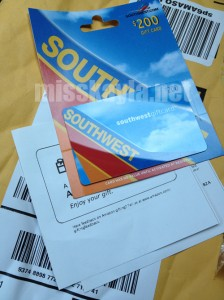 I love Southwest Airlines gift cards!
